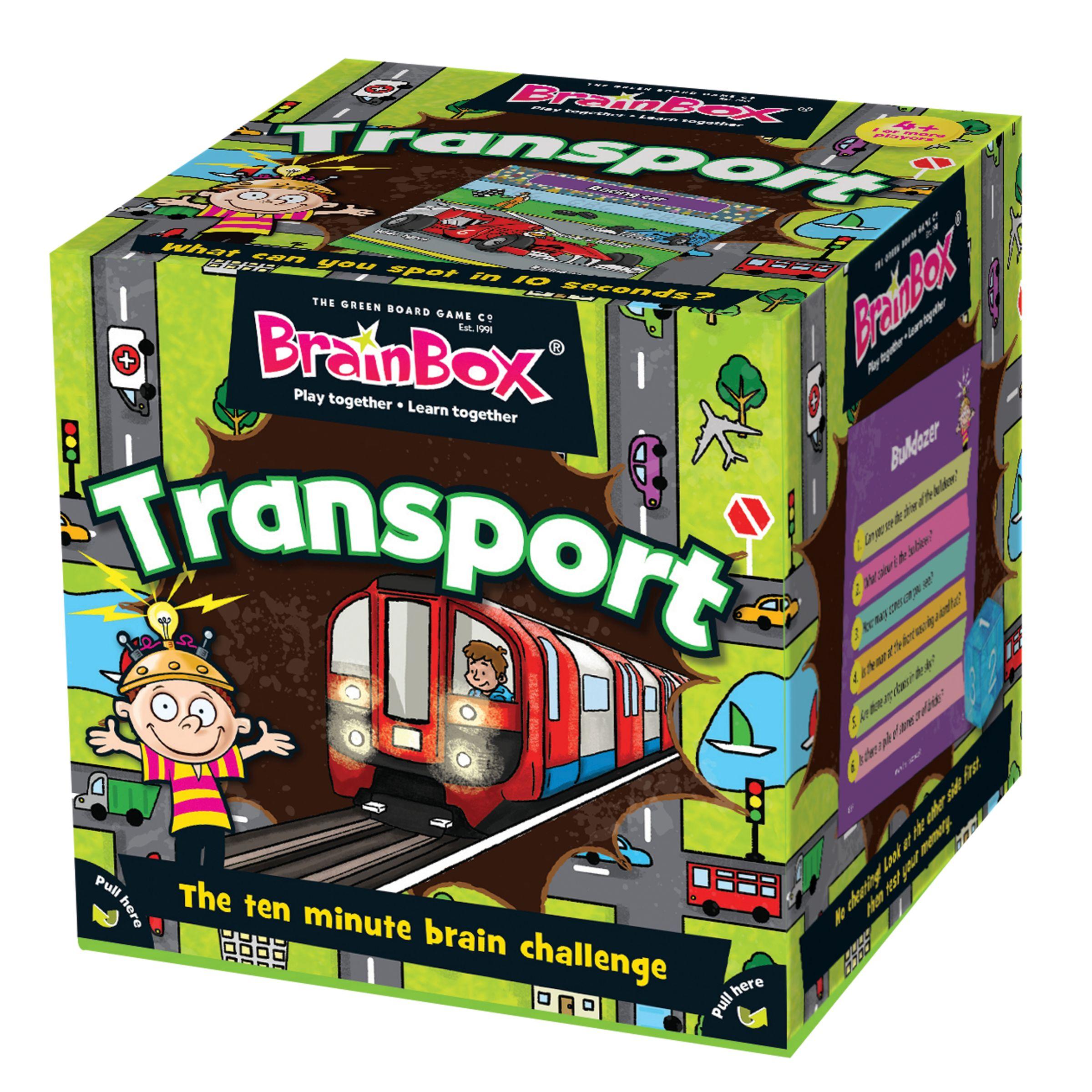 BrainBox BrainBox Transport Ten Minute Challenge Game