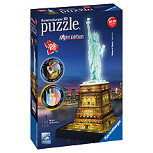 Buy Ravensburger Statue of Liberty Night 3D Jigsaw Puzzle, 108 pieces Online at johnlewis.com