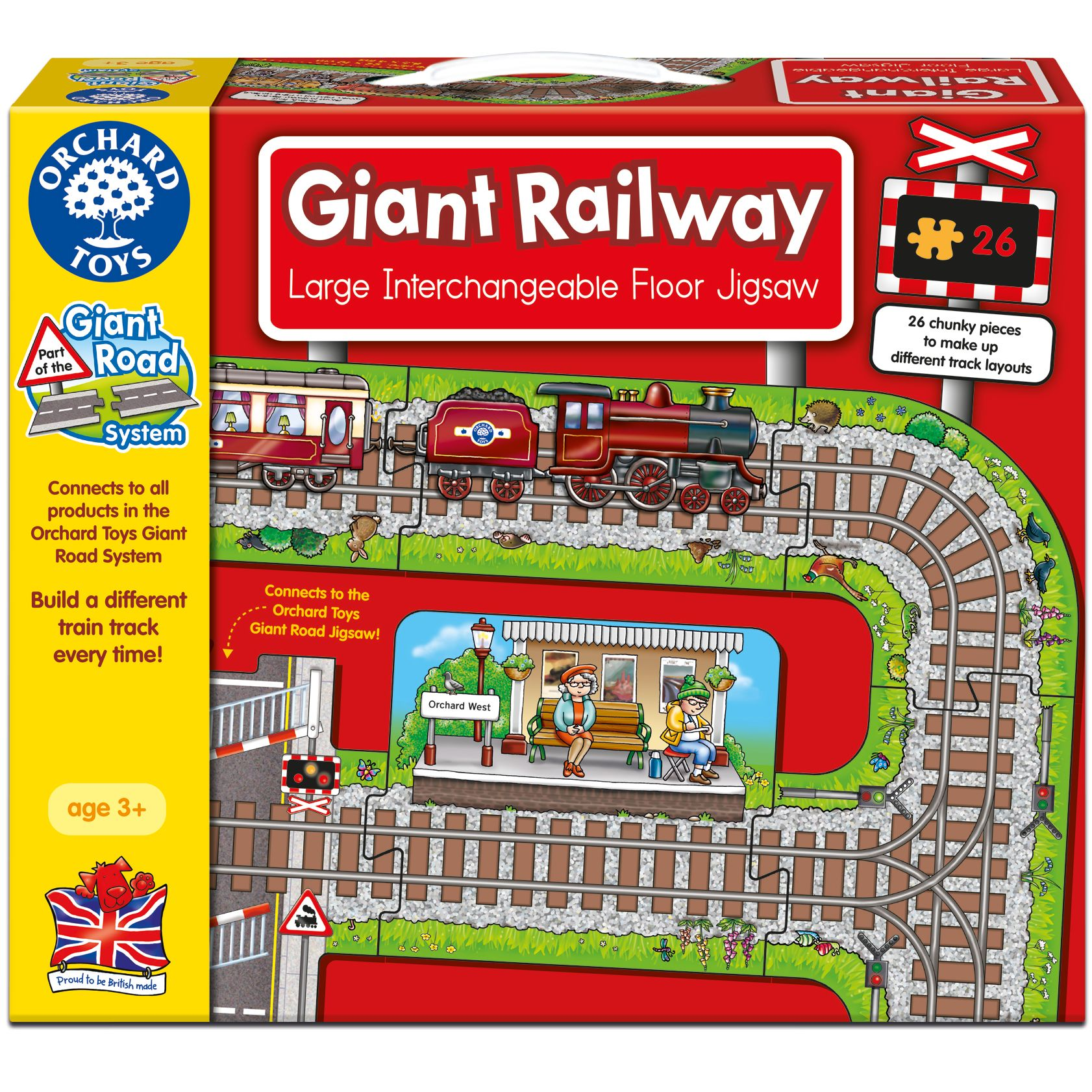 Orchard Toys Orchard Toys Giant Railway Large Interchangeable Floor Jigsaw