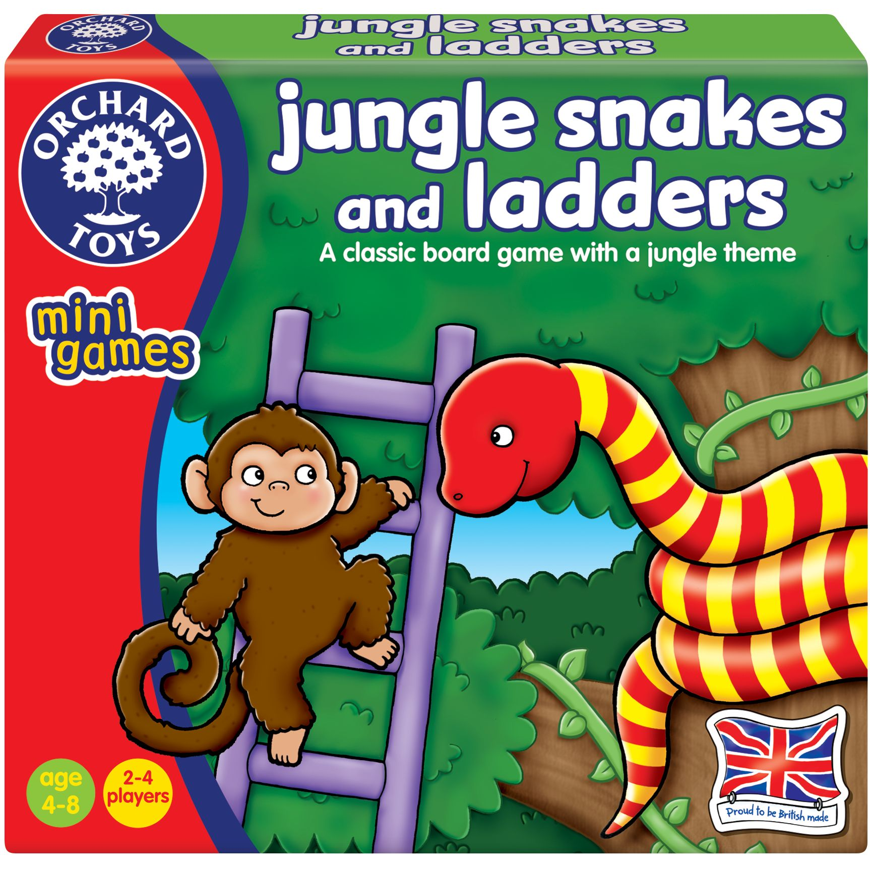 Orchard Toys Orchard Toys Jungle Snakes & Ladders Game