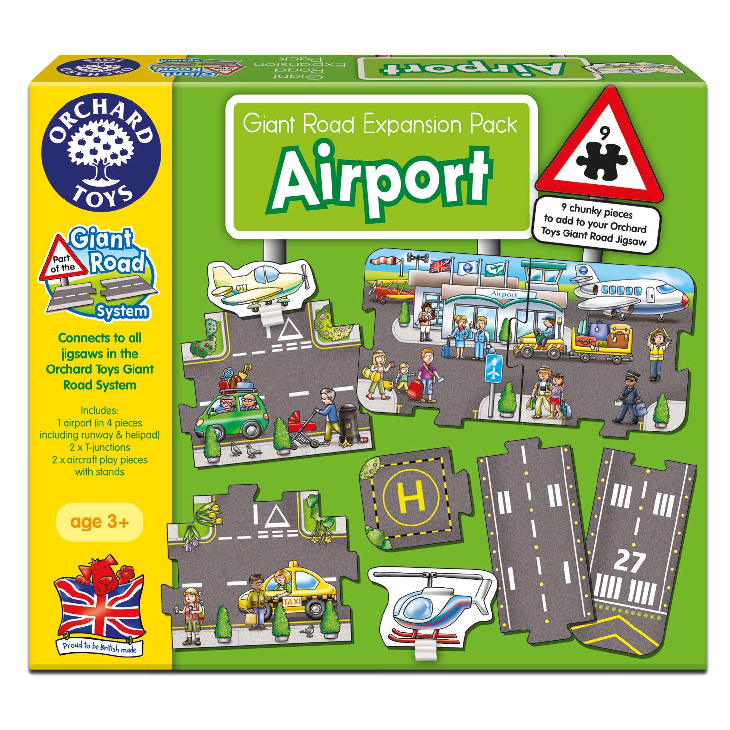 Orchard Toys Orchard Toys Giant Road Airport Expansion Pack
