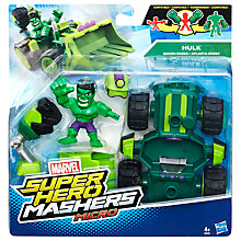 Buy Marvel Super Hero Mashers Hulk Smash-Dozer and Hulk Figure Online at johnlewis.com