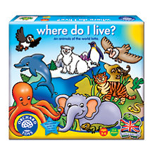 Buy Orchard Toys Where Do I Live? Animals Game Online at johnlewis.com