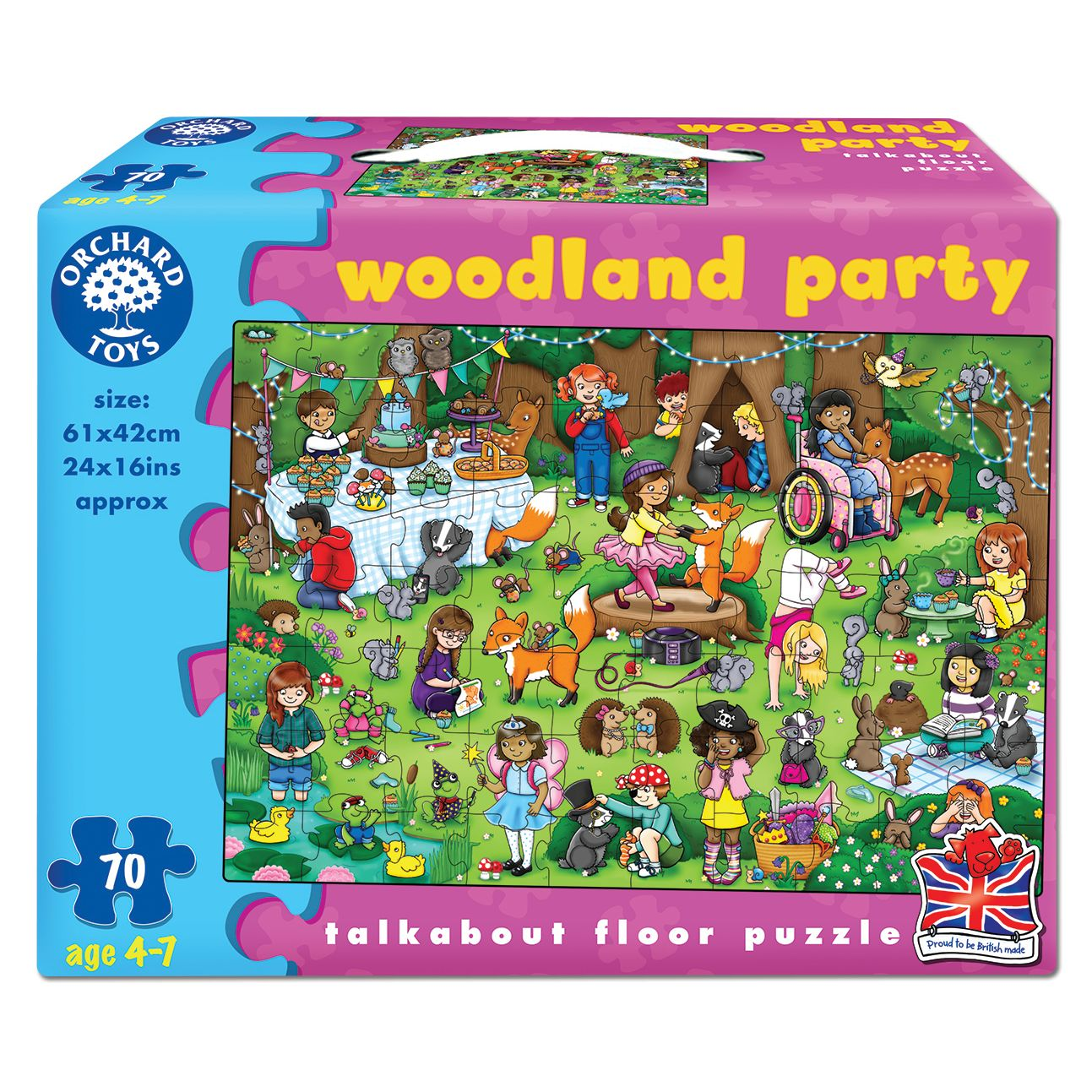 Orchard Toys Orchard Toys Woodland Party Floor Puzzle