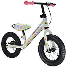 Buy Kiddimoto Super Junior Max Pastel Dot Balance Bike Online at johnlewis.com