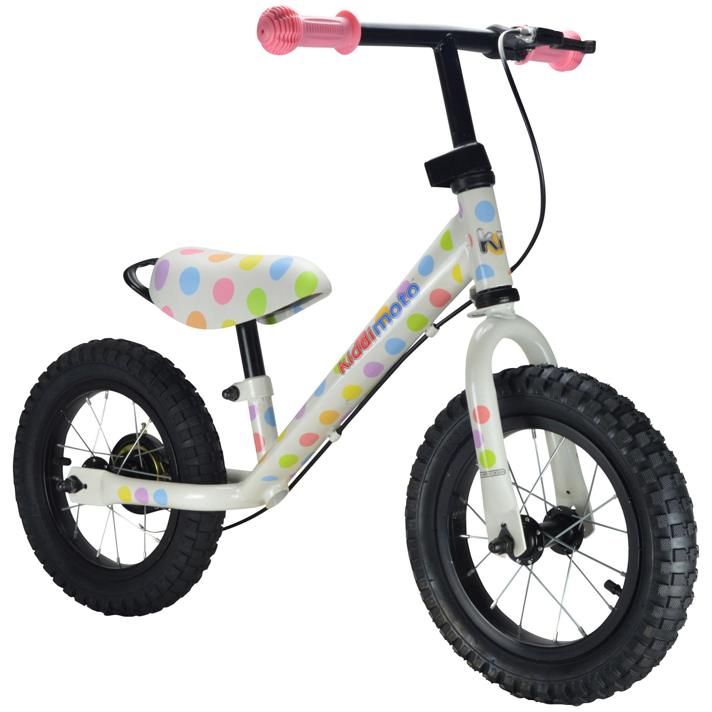 Kiddimoto Kiddimoto Super Junior Max Pastel Dot Balance Bike