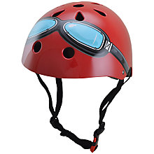Buy Kiddimoto Red Google Helmet, Medium Online at johnlewis.com