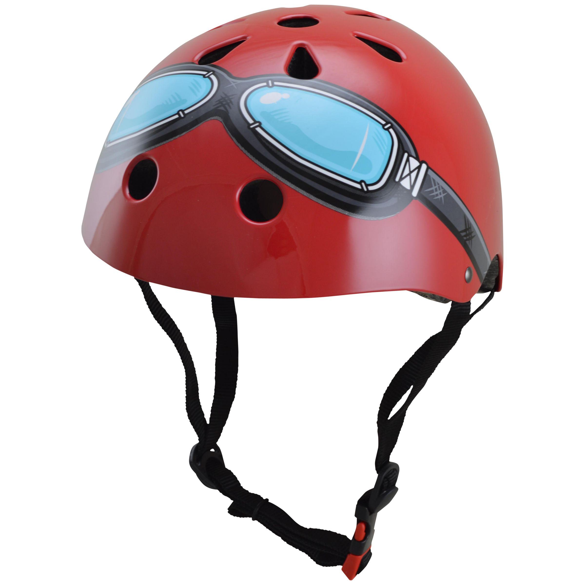 Kiddimoto Kiddimoto Red Google Helmet, Medium