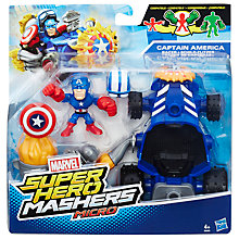 Buy Marvel Super Hero Mashers Captain America Racer and Figure Online at johnlewis.com