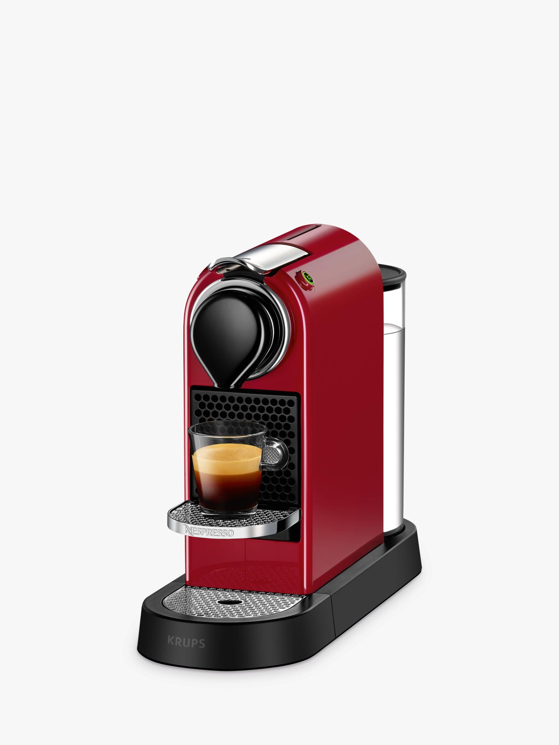 Krups Nespresso CitiZ Coffee Machine by KRUPS, Cherry Red