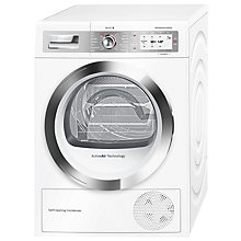 Buy Bosch WTYH6790GB Freestanding Heat Pump Condenser Tumble Dryer, 9kg Load, A++ Energy Rating, White Online at johnlewis.com