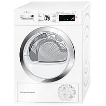 Buy Bosch WTWH7560GB Freestanding Condenser Heat Pump Tumble Dryer, 9kg Load, A++ Energy Rating, White Online at johnlewis.com