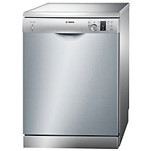 Buy Bosch SMS50C28GB Freestanding Dishwasher, Silver Inox Online at johnlewis.com