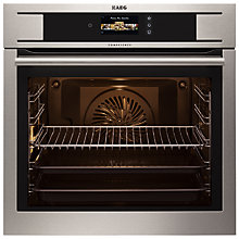 Buy AEG BP831660KM Electric Single Multifunction Oven, Stainless Steel Online at johnlewis.com