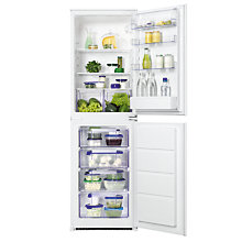 Buy Zanussi ZBB27450SA Integrated Fridge Freezer, A+ Energy Rating, 54cm Wide Online at johnlewis.com