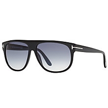 Buy TOM FORD FT0375 Kristen Aviator Sunglasses, Black/Blue Gradient Online at johnlewis.com