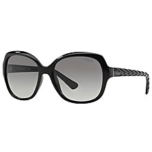 Buy Vogue VO2871S Square Sunglasses, Black Online at johnlewis.com