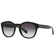 Buy Dolce & Gabbana DG4274 Oval Framed Sunglasses, Black/Grey Gradient Online at johnlewis.com