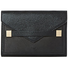 Buy Dune Strap Envelope Clutch Bag, Black Online at johnlewis.com