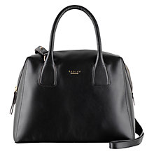 Buy Radley Mortimer Leather Large Bowler Grab Bag, Black Online at johnlewis.com
