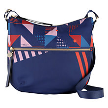 Buy Radley Triagonal Medium Across Body Bag, Navy Online at johnlewis.com