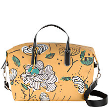 Buy Radley Floristics Canvas Bowling Bag, Yellow Online at johnlewis.com