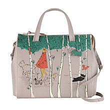 Buy Radley Leader Of The Pack Leather Medium Grab Bag, Grey Online at johnlewis.com