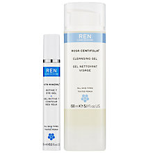 Buy REN Rosa Centifolia™ Cleansing Gel and Vita Mineral™ Active 7 Eye Gel Skincare Duo Online at johnlewis.com