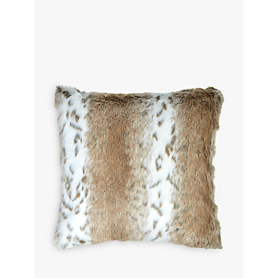 Image of Helene Berman Cream Spot Faux Fur Cushion