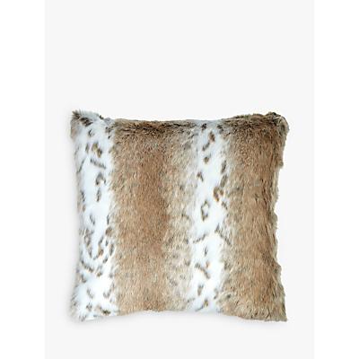 Image of Helene Berman Cream Spot Faux Fur Cushion