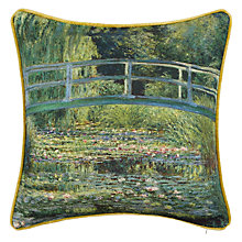 Buy Andrew Martin National Gallery Monet's The Water Lily Pond Cushion Online at johnlewis.com