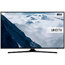 "Buy Samsung UE40KU6000 HDR 4K Ultra HD Smart TV, 40"" with Freeview HD, Playstation Now +  Wireless Sound Bar & Subwoofer, Black Online at johnlewis.com"