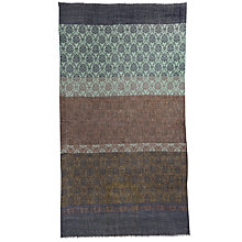 Buy Jigsaw Salma Border Baroque Scarf, Brown Online at johnlewis.com