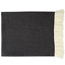 Buy Jigsaw Suzie Wool Fringe Edge Scarf, Grey Online at johnlewis.com