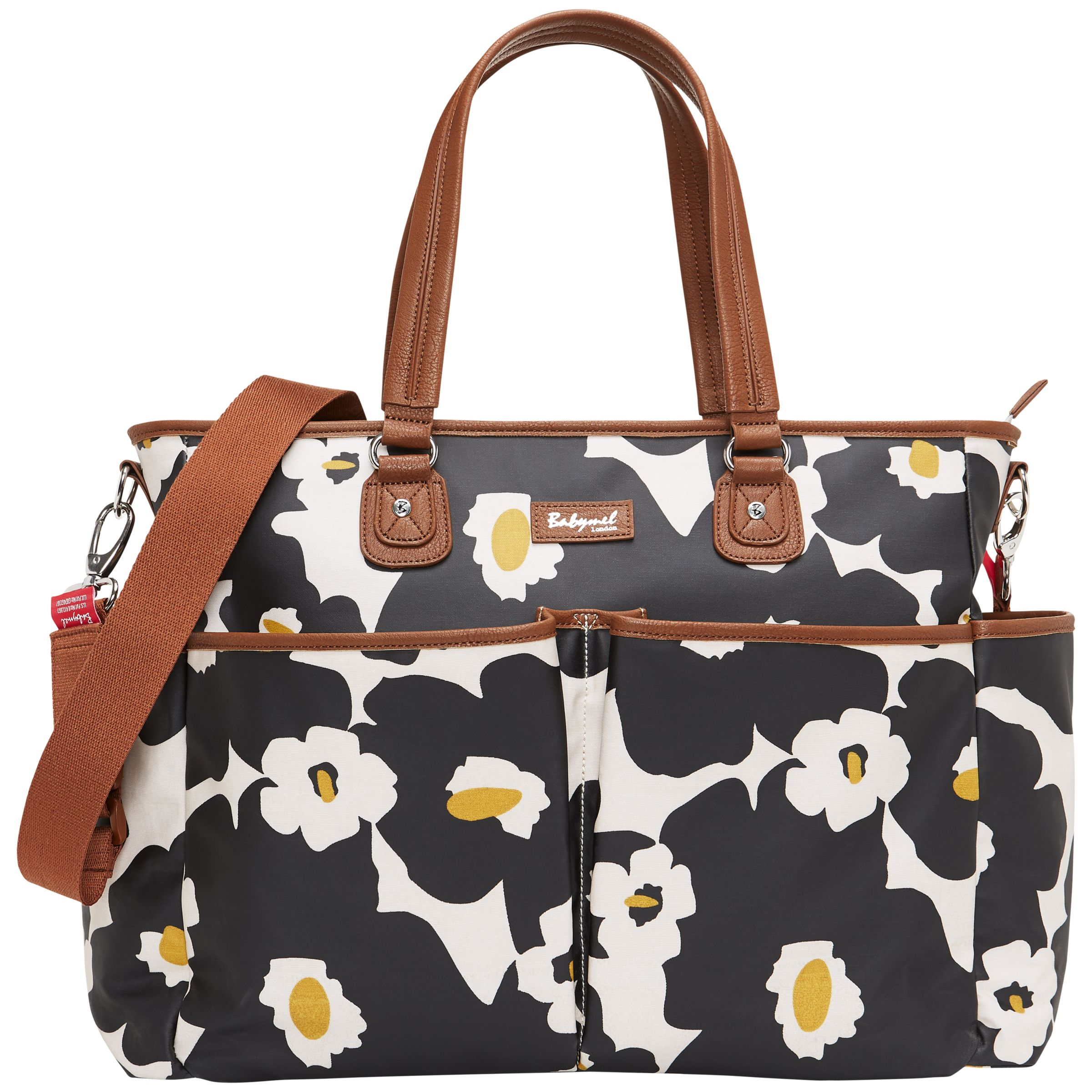 Babymel Babymel Bella Floral Changing Bags, Black
