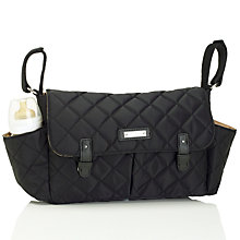 Buy Storksak Quilted Caddy Organiser Changing Bag, Black Online at johnlewis.com