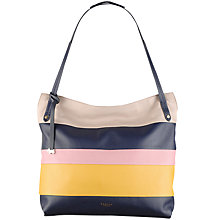 Buy Radley Willow Stripe Leather Large Zip Top Tote Bag Online at johnlewis.com
