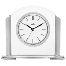 Buy Acctim Riccia Mantel Clock, Silver Online at johnlewis.com