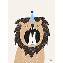 Buy Michelle Carlslund Illustration Lion and Bunny Poster, 30 x 40cm Online at johnlewis.com