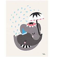 Buy Michelle Carlslund Illustration Elephant Love Poster, 30 x 40cm Online at johnlewis.com