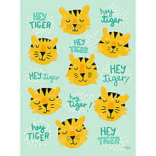Buy Michelle Carlslund Illustration Hey Tiger Print Poster, 50cm x 70cm Online at johnlewis.com
