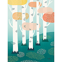 Buy Michelle Carlslund Illustration Forest Print Poster, 50cm x 70cm Online at johnlewis.com