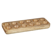 Buy John Lewis Mango Wood Egg Tray, Natural Online at johnlewis.com