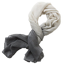 Buy Betty & Co. Long Pleated Scarf, Grey/Silver Online at johnlewis.com
