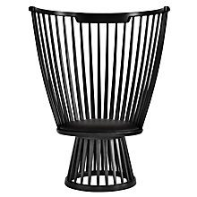 Buy Tom Dixon Fan Chair, Black Online at johnlewis.com