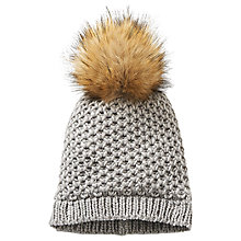 Buy Betty Barclay Bobble Hat, Dark Grey Melange Online at johnlewis.com