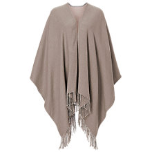 Buy Betty Barclay Reversible Fringed Poncho, Taupe/Rosé Online at johnlewis.com