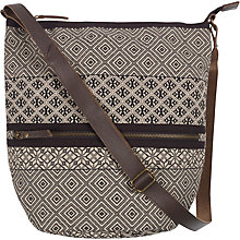 Buy Fat Face Dani Patchwork Cross Body Bag, Black Online at johnlewis.com