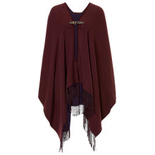 Buy Betty Barclay Reversible Fringed Poncho, Purple/Blue Online at johnlewis.com