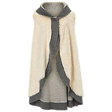 Buy Betty Barclay Faux Fur Poncho, Grey/Cream Online at johnlewis.com